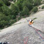 Orco valley trad climbing course with sunnyclimb mountain guides