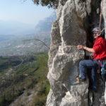Arco multi pitch climbing