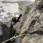 Tonale trad climbing   course with sunnyclimb mountain guides