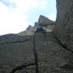 Trad Climbing  cima d'asta range with sunnyclimb mountain guides